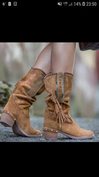 Botas color camel 38