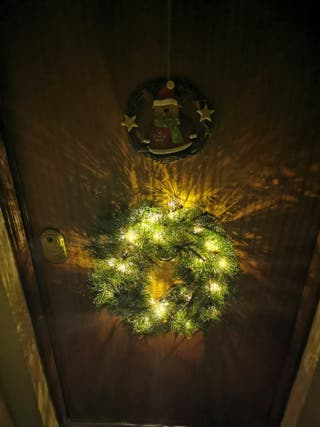 corona Navidad con leds para puerta nueva