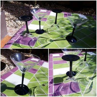 LOTE 4 copas vermouth cristal
