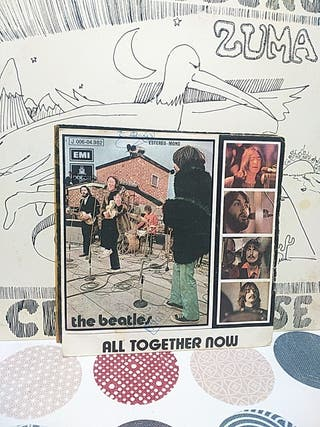 single vinilo The Beatles bulldog all together now