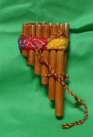 Flauta de pan artesana