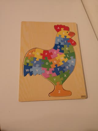 puzzle gallina muy divertido de madera
