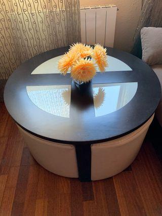 Mesa redonda de sala de estar o comedor