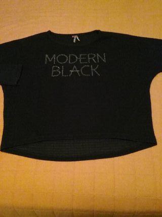 Jersey niña negro asimétrico. Talla 12 Orchestra