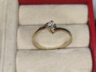 anillo de oro dr 18kl con brillante