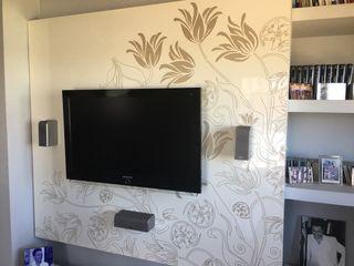 Mueble tv lacado blanco