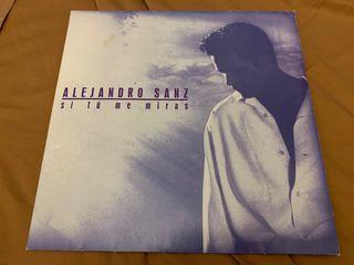 ALEJANDRO SANZ SI TÚ ME MIRAS Disco vinilo LP 1993