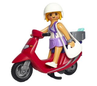 Playmobil Chica con moto scooter