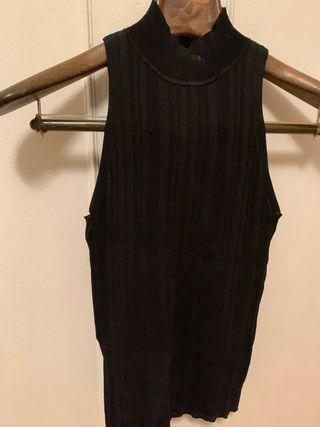 Jersey negro sin mangas