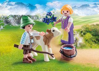 Playmobil 70155 Niños con ternero