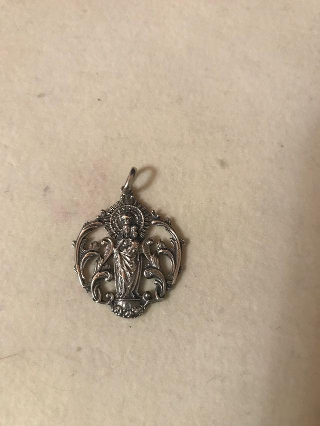 Medalla plata Virgen del Pilar