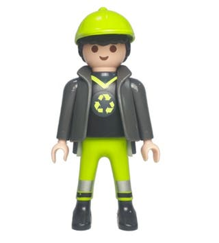 Playmobil Operario Reciclaje Basuras