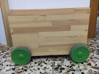 Cajón de almacenaje con ruedas