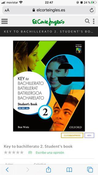 Libro inglés 2 bachillerato Oxford