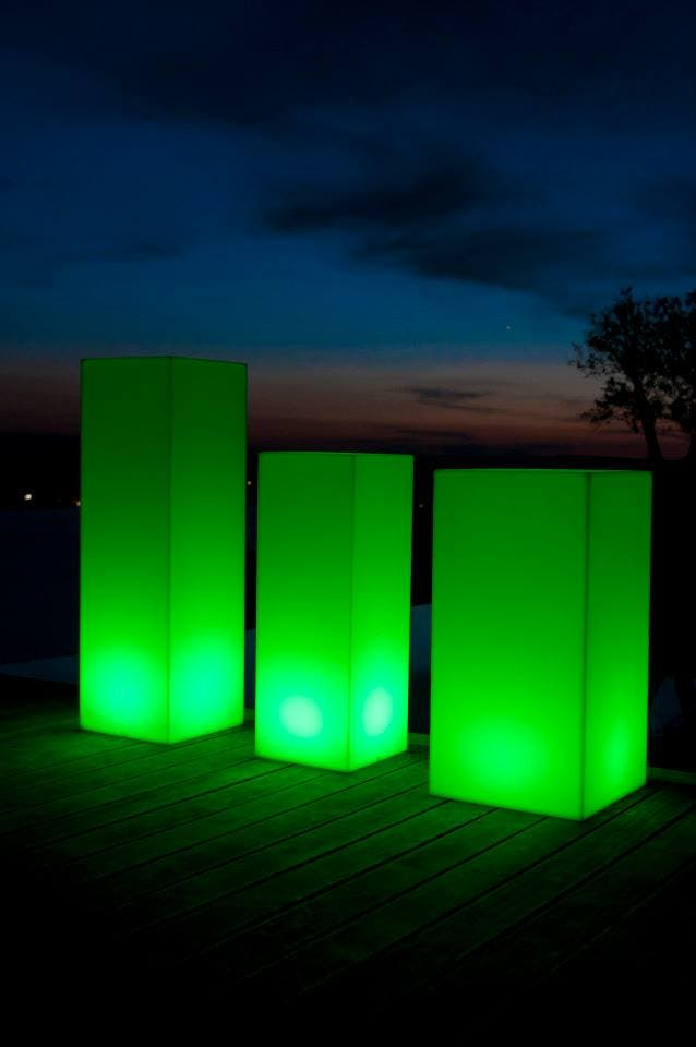 Mobiliario chill out con luz
