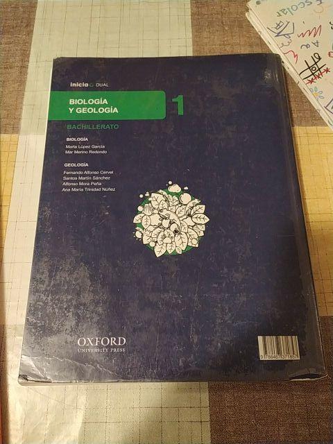 libro biología 1 bachillerato oxford