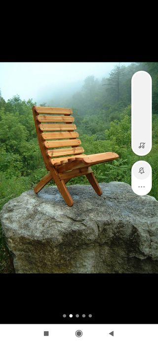 Silla de madera maciza plegable