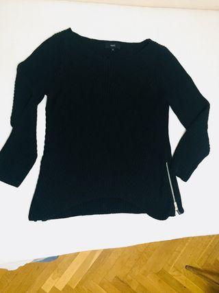 Jersey de punto color negro