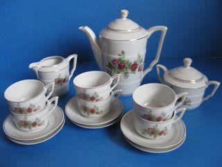 Juego cafe vintage de porcelana