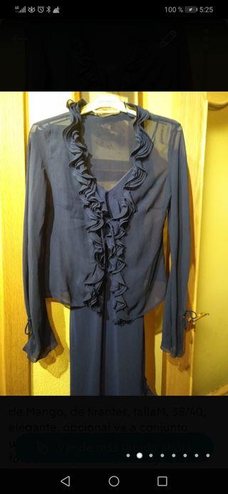 conjunto chaqueta/vestido Mango, de tirantes azul