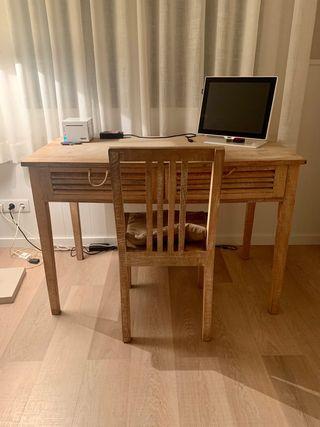 Mesa escritorio y silla Jardin d ulysse bateau