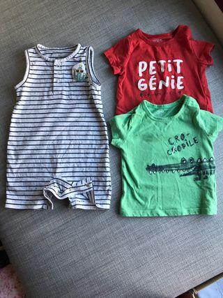 Lote Ropa Peto Mono Bebe Bebe 9-12 meses