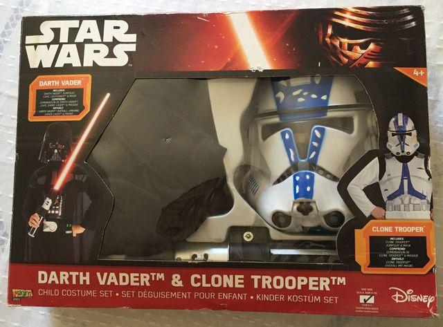 Pack Disfraces Darth Vader y Clone Trooper