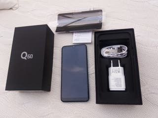 Teléfono LG Q60 color azul metalico