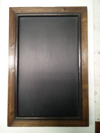 Pizarra negra marco restaurado