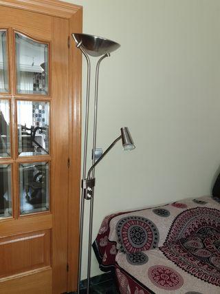lámpara de pie salón plata nueva