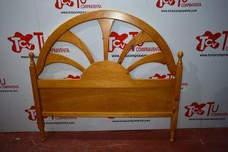 Cabecero cama pino 135 cm