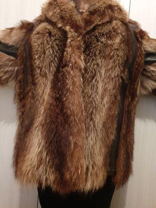 abrigo de piel conejo
