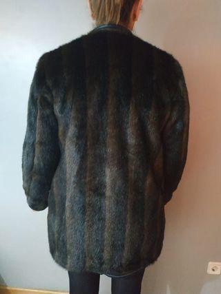 Abrigo piel sintética Zara