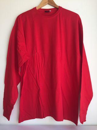 Camiseta manga larga de hombre roja