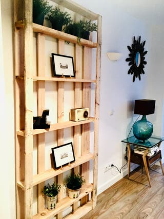 estanteria libreria madera palet industrial nordic