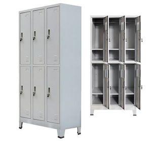 Armario taquilla con 6 compartimentos acero