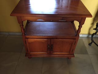 Mueble madera tv y recepción