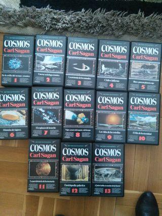 13 VHS cosmos. carl Sagan
