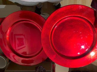 6 Bajoplatos rojos