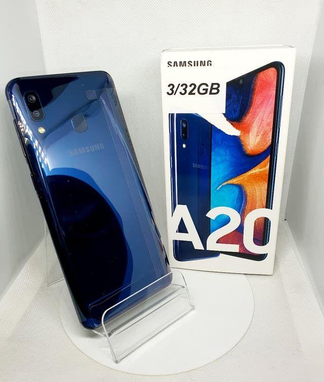 Samsung a20 nuevo azul metalizado