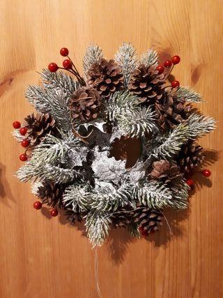Corona artificial Navidad