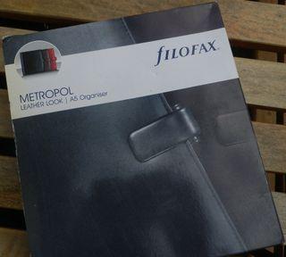 Filofax Metropol - Agenda archivador A5, negra