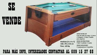 Mesa Billar/Ping pong/Air hockey