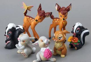 lote 7 figuras nuevas de Bambi y sus compañeros