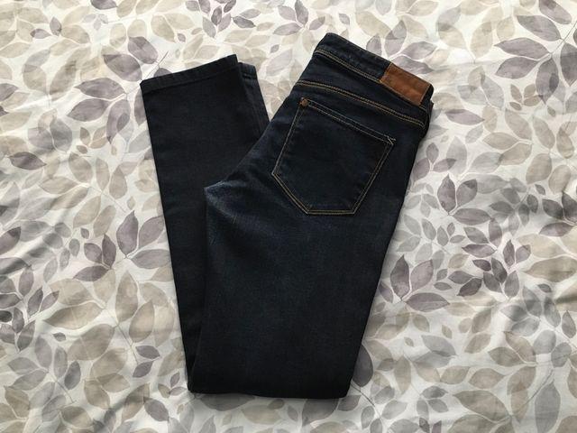 Vaquero Azul Oscuro H&M Pitillo