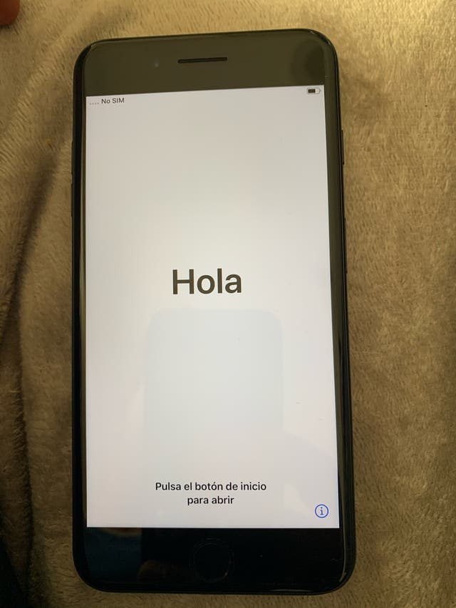 iphone 7 plus negro mate+caja+cargador+funda