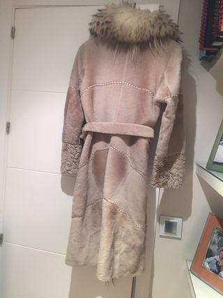Abrigo piel zorro polar