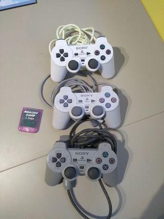 mandos y memory card play station
