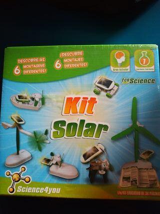 Juego niños energía solar kit. Nuevo