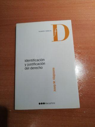 Identificación y justificación del derecho.